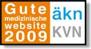 Sigel gute medizinische website 2009 aekn KVN